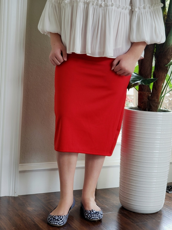 Klassy Girl Original Pencil Skirt Red