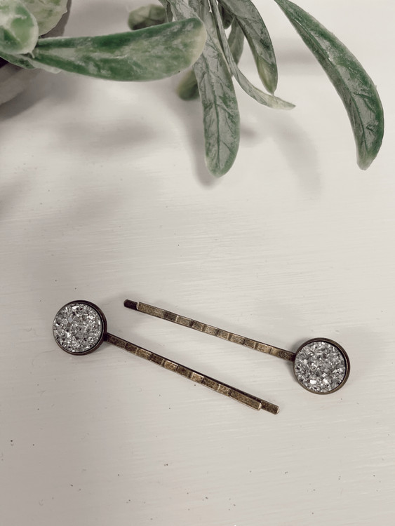Antique Hair Pins Silver *Set of 2*