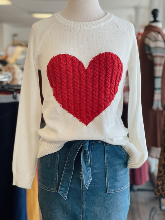 Matters of the Heart Sweater *Red*