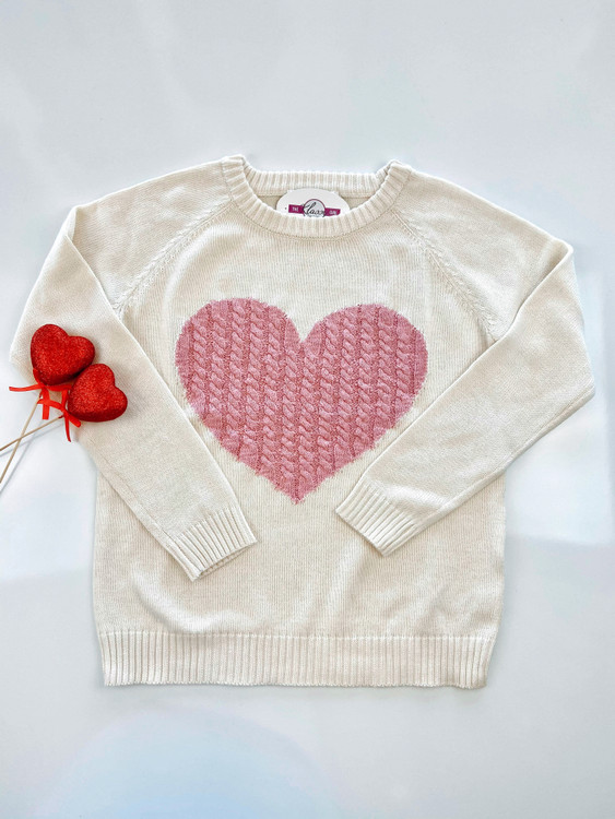 Matters of the Heart Sweater *Pink*