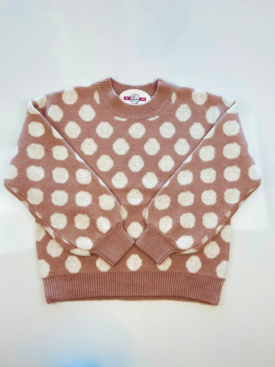 Right On The Dot Sweater *Pink*