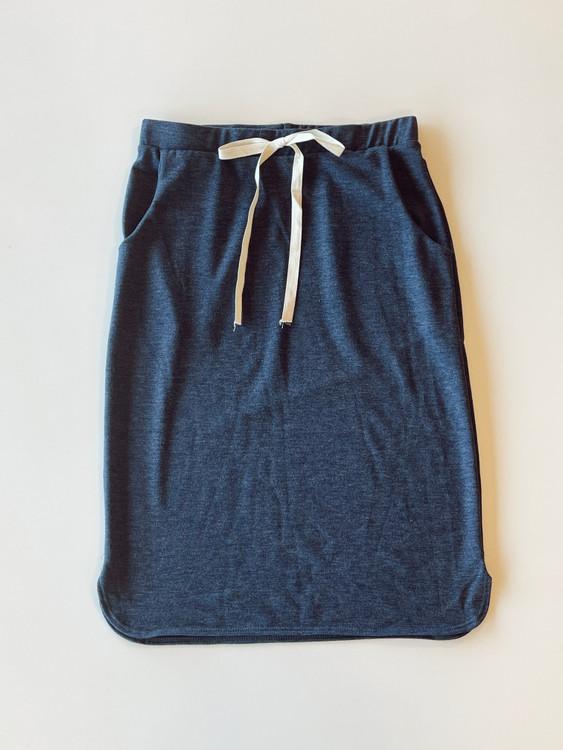 Drawstring Sport Skirt *Heather Navy*