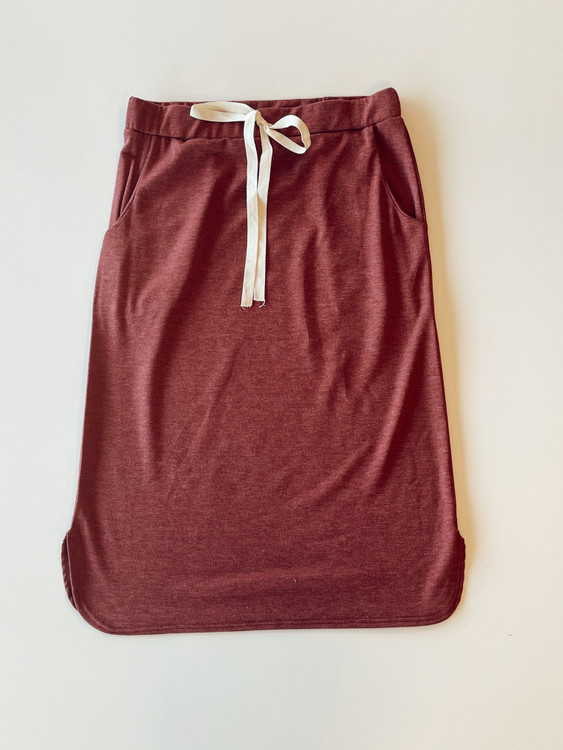 Drawstring Sport Skirt *Heather Burgundy*