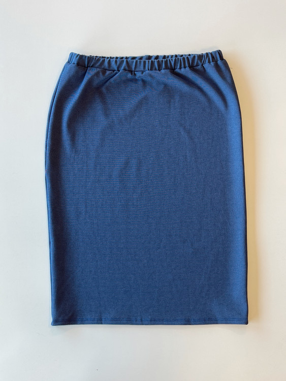 Klassy Girl Original Pencil Skirt *Chambray Ponte*
