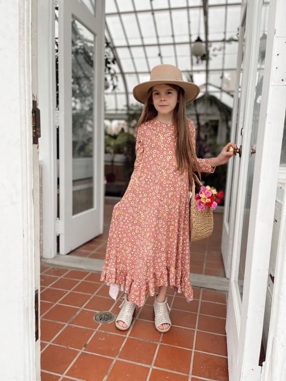 Willow Swing Dress Rose Pink Floral *Girls*
