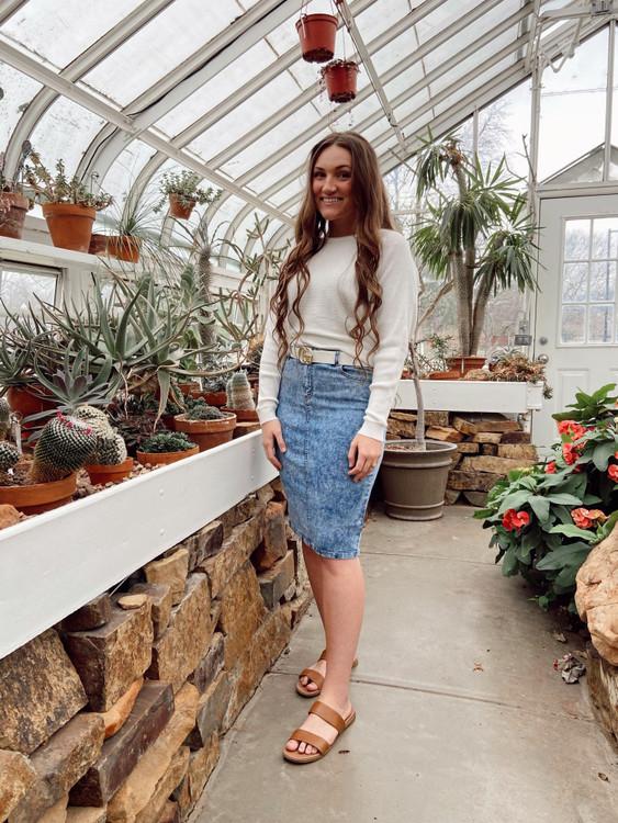 Emma Denim Skirt *Stone Wash*