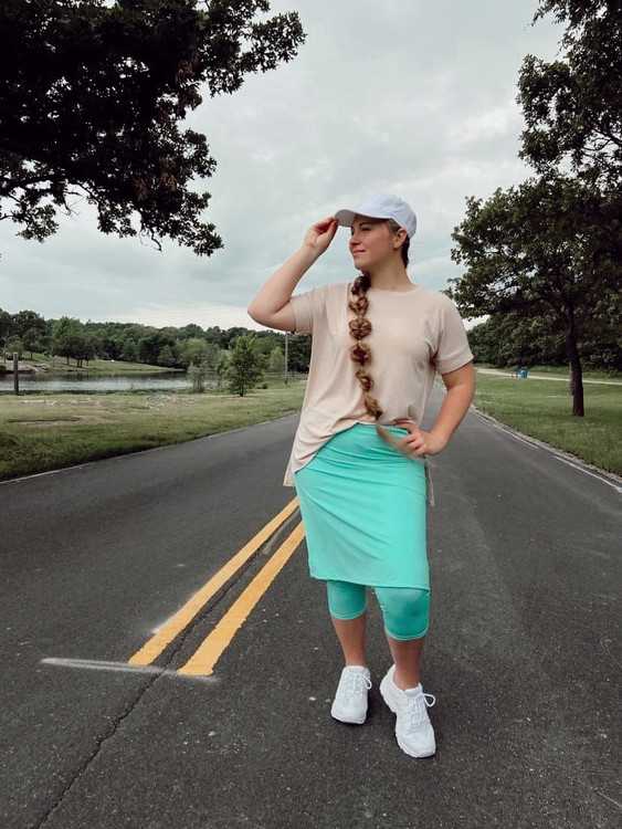 Modest Athletic Skirt With Leggings *Mint*