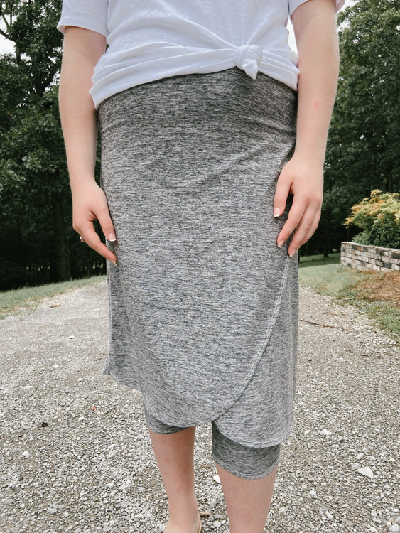 Space Dye Wrapped Athletic Skirt *Grey*