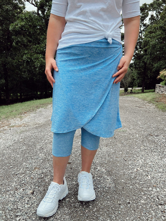 Space Dye Wrapped Athletic Skirt *Blue*