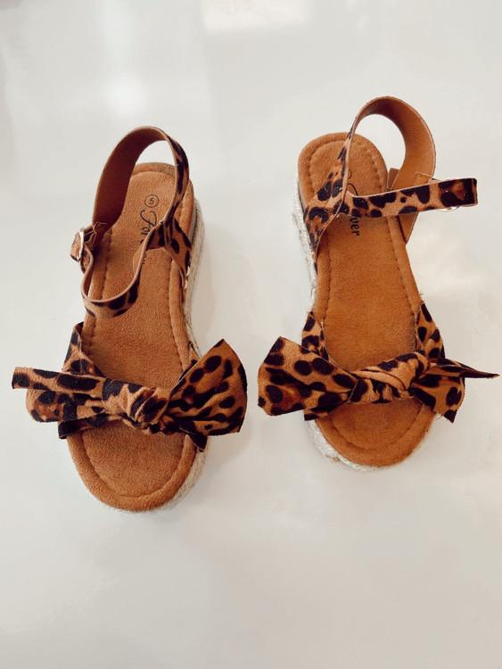 Bow Sandals Shoes *Leopard* Final Sale