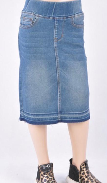 Maddison *Kids* Denim Skirt *Vintage Wash*