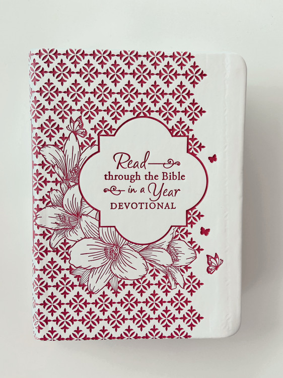 KJV Read Through Bible in a Year Devotional  *Burgundy*