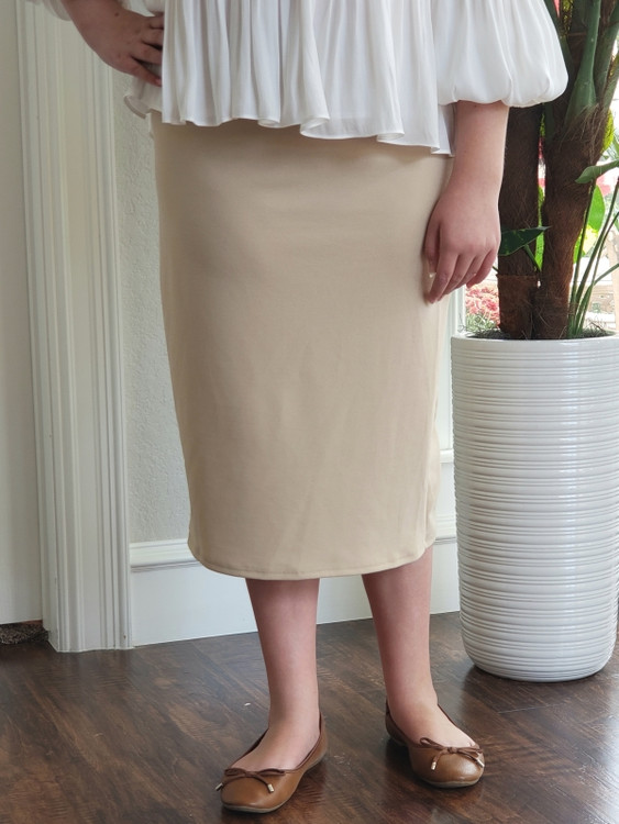 Klassy Girl Original Pencil Skirt Cream