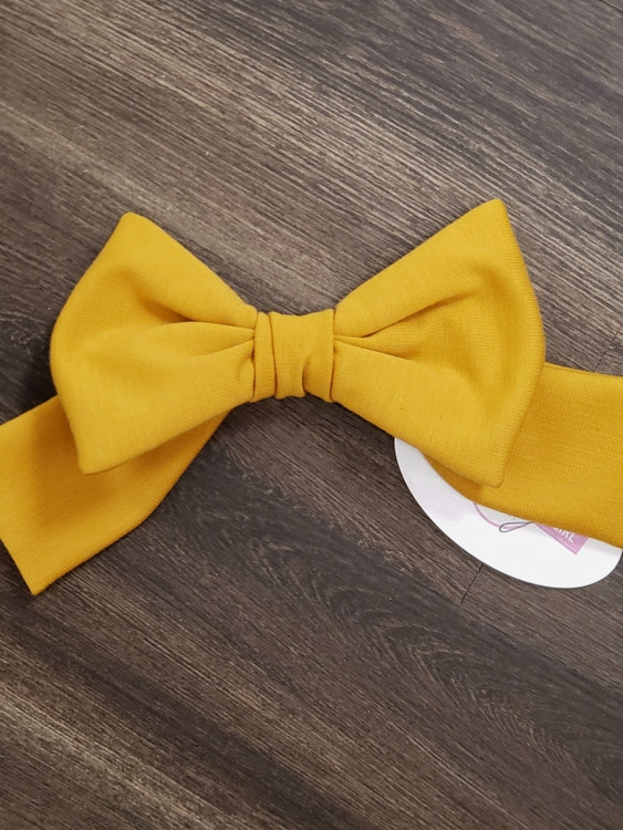 Bow Accessory in Golden Mustard