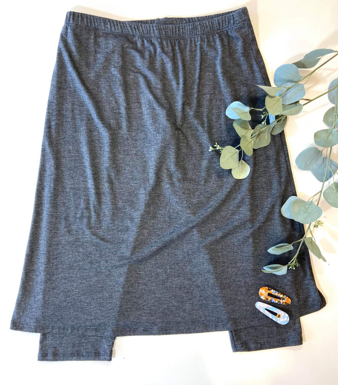 Athletic Skirt With Leggings Charcoal Adult