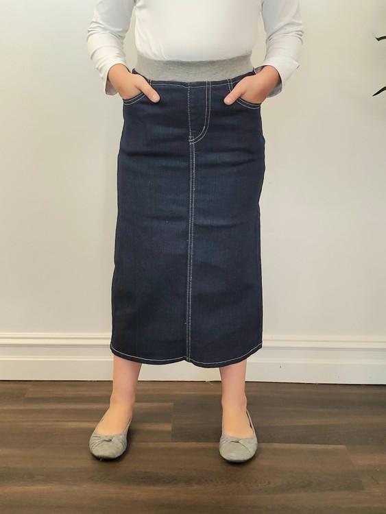 Harper Girls Modest Denim Skirt