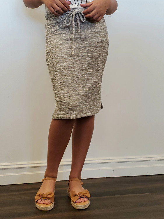 Traveling Skirt in Marled Grey