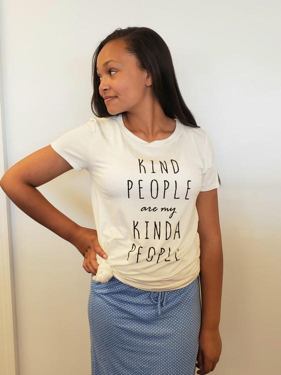 Kind People Are My Kind Of People Tee White