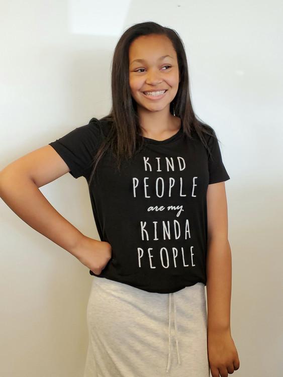 Kind People Are My Kind Of People Tee Black