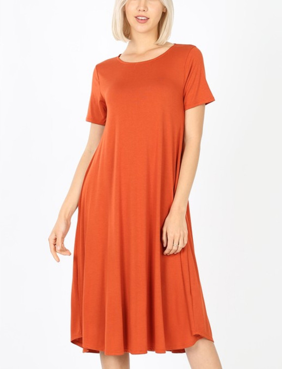 Summer Special T Shirt Dress Copper
