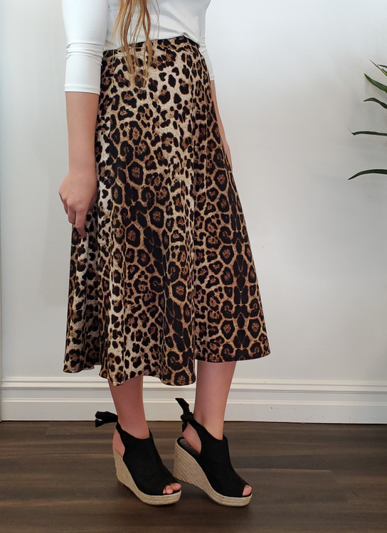 Melody Circle Skirt Leopard