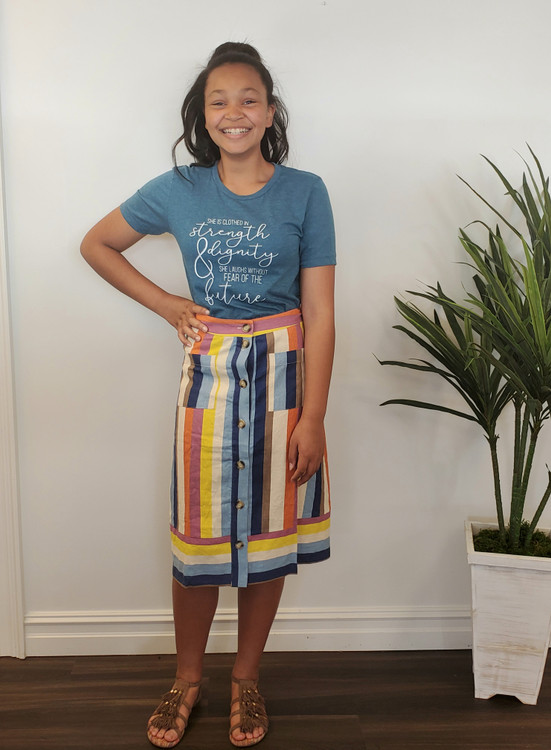 Multi Color Stripe Skirt (Final Sale)