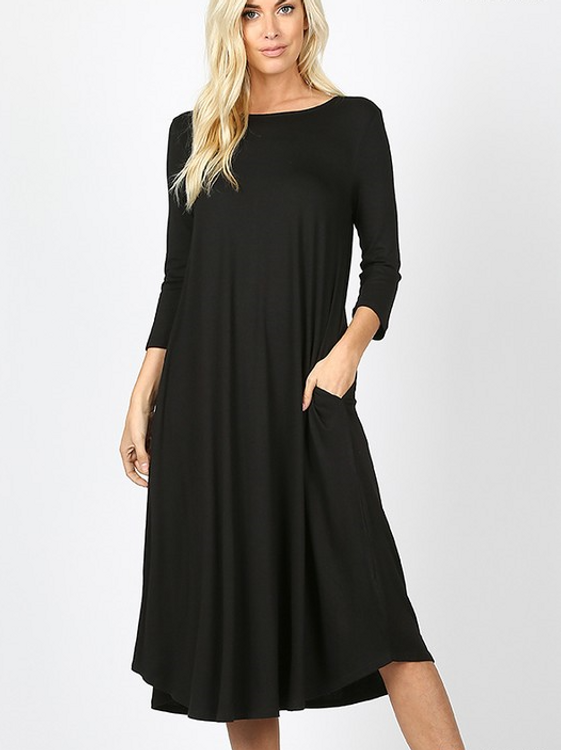 Cyber Deals T Shirt Swing Dress Black