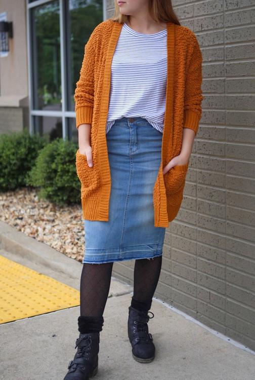 Emma Denim Skirt Light Wash