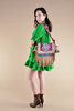 WINONA Bohemian Hi Lo Printed Silk Dress  in Shamrock (One Size)