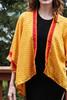 ASHKA Silk Kimono Shrug in Yellow (One Size)