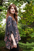 CAMILLE Oversized Silk Tunic Blouse in Cherry Blossom (OS)