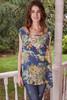 LUSHA Printed Silk Tank Dress Tunic in Blue Crush (One Size)