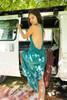EDEN MAXI Backless Silk Key Hole Dress (one size) in Sea Bloom