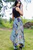 FLAMENCO Ruffle Trim Silk Dancing Skirt in Matisse (Sm/ Md)