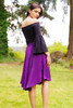 PAMELA Recycled Silk Skirt with Pockets (One Size) Violetta