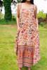 TAARA Bohemian Silk Slip Dress (One Size) in Harvest Moon