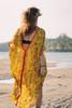 KRYSTA Kaftan Boho Maxi Boho Silk Beach Cover up in Marigold Sunset (onesize)
