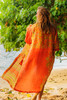 CAMERON Luxurious Crepe Silk  Bohemian Robe in Tropical Sunset (One Size)