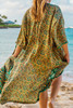 CAMERON Luxurious Pure Silk  Boho Chic Robe in Ixora Paradise (One Size)