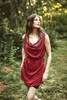 GISELLE Cowl Neck Silk Wrap Dress in Empress (One Size)
