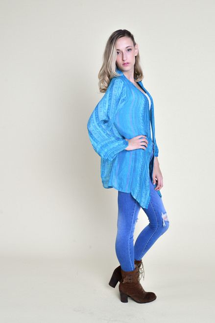 SHANNON Duster Aquatic Lines (onesize)