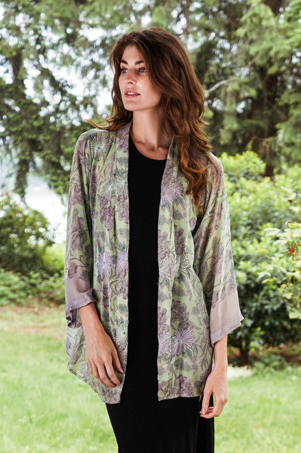 SHANNON Duster in Lavender Spring (onesize)