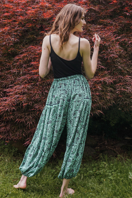 BALAREE Silk Harem Pants in Poseiden's Dreams (One Size)