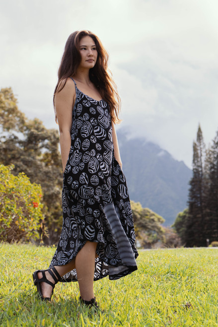 TAARA Bohemian Silk Slip Dress (One Size) in Zebra Dazzle