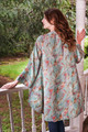 BRENNA Boho Silk Kimono Duster in Brush Stroke (Sm/Md)