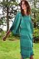 ANYA Butterfly Sleeve Silk Wrap Dress in Caribbean Queen   (Med/Lg)