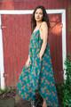 TAARA Bohemian Silk Slip Maxi Dress (One Size) in Alamo
