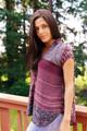 PADMA Printed Silk Blouse  (Sm/Med) in Dusk til' Dawn
