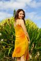 SKYLAR Bohemian Silk Slip Dress in Sunstone Vale (SMALL)