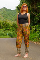 FRIDA Ankle Capri Silk Trouser Pants in Jungle Paradise (Med/Lg)